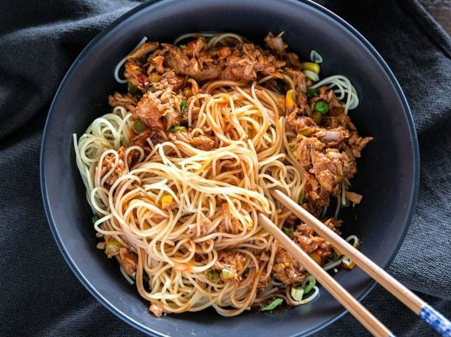 Tuna and Rice Noodle Stir Fry